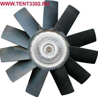 крыльчатка вентилятора газель бизнес с вискомуфтой камминз 2.8 020005181/020005158 цена